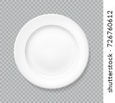 white realistic plate top view... | Shutterstock .eps vector #726760612