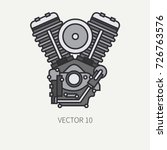 line flat color vector... | Shutterstock .eps vector #726763576