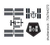 international space station... | Shutterstock .eps vector #726764272