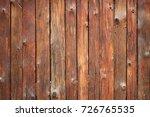vertical barn wooden wall... | Shutterstock . vector #726765535