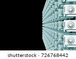design element. 3d illustration.... | Shutterstock . vector #726768442