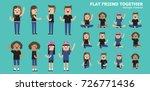 illustration vector of diverse... | Shutterstock .eps vector #726771436