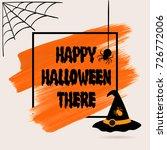 happy halloween sign text over... | Shutterstock .eps vector #726772006