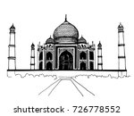 a clear hand drawn image of the ... | Shutterstock .eps vector #726778552
