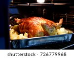 glazed chicken baking in the... | Shutterstock . vector #726779968