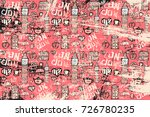 Vector Pattern With Pictures O...