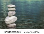 Stack Of Stones Balancing On...