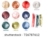 watercolor palette of trendy... | Shutterstock . vector #726787612