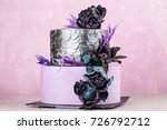 purple and silver color tiered... | Shutterstock . vector #726792712