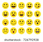 set of yellow round emoticons... | Shutterstock .eps vector #726792928