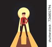 business man confidently... | Shutterstock .eps vector #726801796