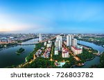 aerial skyline view of hanoi...   Shutterstock . vector #726803782