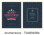 christmas greeting card design... | Shutterstock .eps vector #726806086