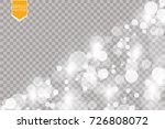 abstract white bokeh effect... | Shutterstock .eps vector #726808072