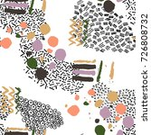vector pattern with hand drawn... | Shutterstock .eps vector #726808732