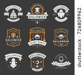 happy halloween labels an... | Shutterstock .eps vector #726809962