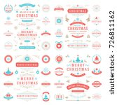 christmas labels and badges... | Shutterstock .eps vector #726811162