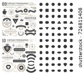 retro vintage typographic... | Shutterstock .eps vector #726811408