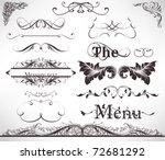 vector set  calligraphic design ... | Shutterstock .eps vector #72681292