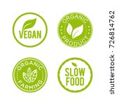 healthy food icon set. vegan ... | Shutterstock .eps vector #726814762