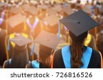 graduation ceremony ... | Shutterstock . vector #726816526