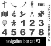 navigation. icon set 3. gray... | Shutterstock .eps vector #726817972