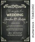 chalkboard designed vintage... | Shutterstock .eps vector #726821002