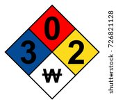 nfpa 704 diamond 3 0 2 w sign ... | Shutterstock .eps vector #726821128