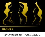 set vector stylized beautiful... | Shutterstock .eps vector #726823372