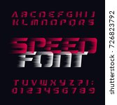 speed alphabet vector font.... | Shutterstock .eps vector #726823792