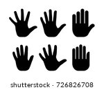 silhouettes of human open palm... | Shutterstock .eps vector #726826708