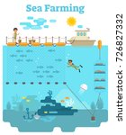 sea farming   aquaculture... | Shutterstock .eps vector #726827332