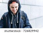 portrait of cheerful teenager...   Shutterstock . vector #726829942