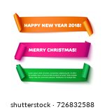 colorful curved paper ribbon... | Shutterstock .eps vector #726832588