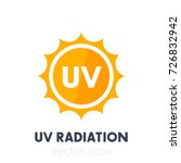 uv radiation  ultraviolet icon | Shutterstock .eps vector #726832942