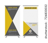 business roll up. standee... | Shutterstock .eps vector #726833032