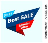 big sale banner  best offer ... | Shutterstock .eps vector #726833185