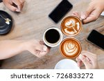 group of people having a... | Shutterstock . vector #726833272