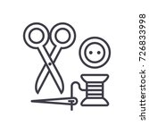sewing scissors  thread  needle ... | Shutterstock .eps vector #726833998
