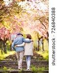beautiful senior couple in love ... | Shutterstock . vector #726840388
