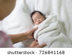 mother take care baby with love. | Shutterstock . vector #726841168