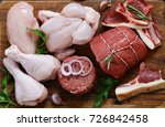 raw meat assortment   beef ... | Shutterstock . vector #726842458