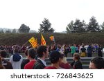 catalan people cutting the road ... | Shutterstock . vector #726843625