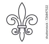 italian florence  vector line... | Shutterstock .eps vector #726847522