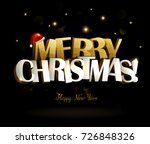 merry christmas and happy new... | Shutterstock .eps vector #726848326