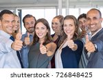 group of happy business people... | Shutterstock . vector #726848425