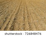 plough agriculture field before ... | Shutterstock . vector #726848476
