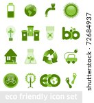 eco friendly icon set | Shutterstock .eps vector #72684937
