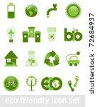 eco friendly icon set | Shutterstock .eps vector #72684937