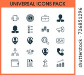 resources icons set. collection ... | Shutterstock .eps vector #726851296